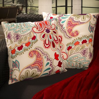 Theresa Embroidered Paillette Throw Pillows