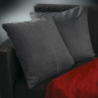 Evelyn Jacquard Throw Pillow Color: Dark Blue