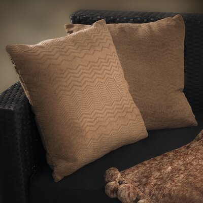 Evelyn Jacquard Throw Pillow Color: Brown