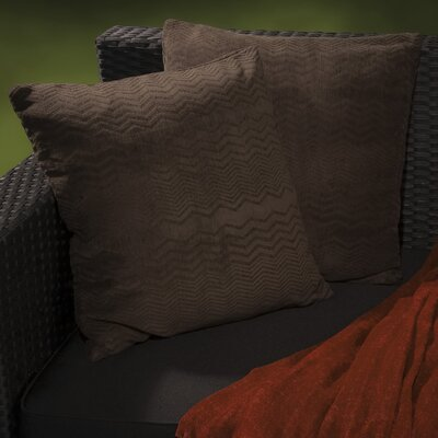 Evelyn Jacquard Throw Pillow Color: Dark Brown