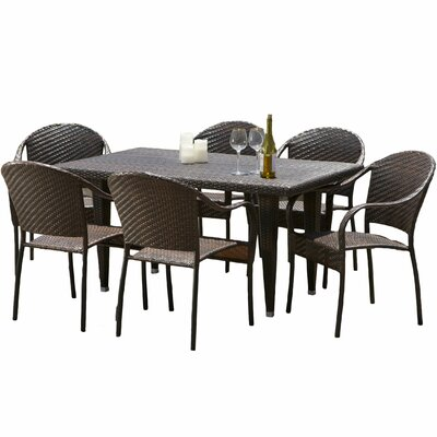 Dimke Wicker Outdoor Dining Set 24 Product Photo