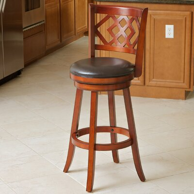 Eclipse 29 Swivel Bar Stool Seat Finish: Brown