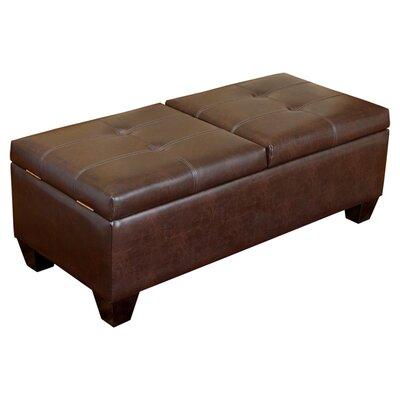 Salas Leather Storage Ottoman