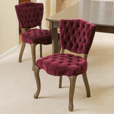 Yates Tufted Fabric Parsons Chair