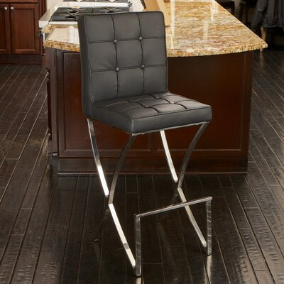 28 Bar Stool Upholstery: Black