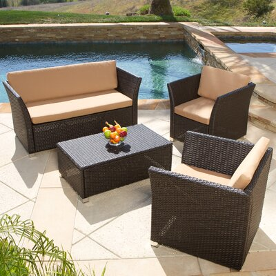 Niguel 4 Piece Seating Group with Cushion