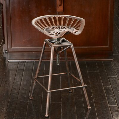 Adjustable Height Bar Stool Finish: Copper