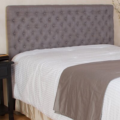 Westham Upholstered Panel Headboard Upholstery: Grey