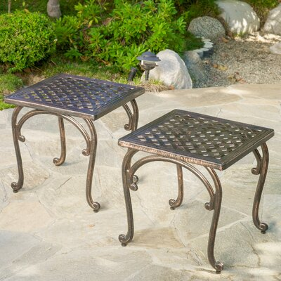 Potenza Cast Aluminum Outdoor Side Table