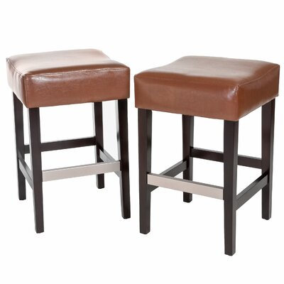 Exclusives 30.71 Bar Stool Color: Hazelnut, Seat Height: Bar