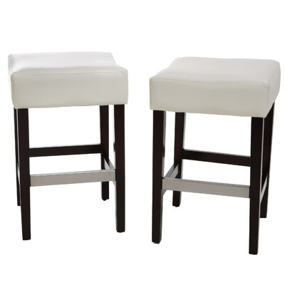 Exclusives 26.71 Bar Stool Seat Color: Ivory