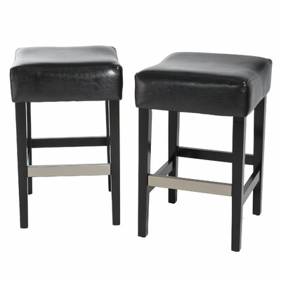 Exclusives 30.71 Bar Stool Color: Black, Seat Height: Bar