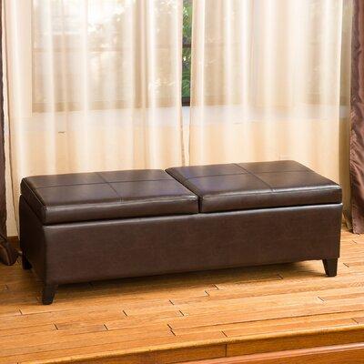 Taren Leather Storage Ottoman