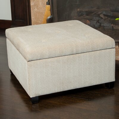 Stephon Wheat Tufted Storage Ottoman