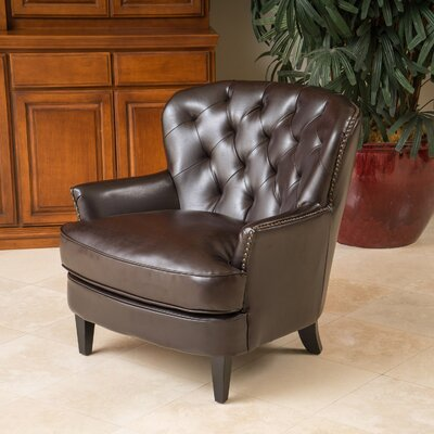 Waldorf Diamond Tufted Leather Club Chair