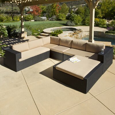 Brooklyn 5 Piece Seating Group in Black with Cushions