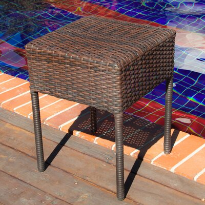 Anchorage Wicker Outdoor Accent Table Finish: Brown