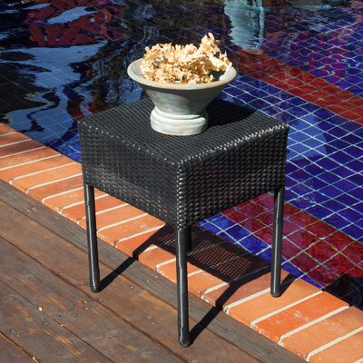Batley Wicker Outdoor Accent Table Finish: Black