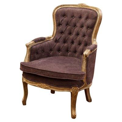 Lothair Weathered Armchair Upholstery: Dark Grey
