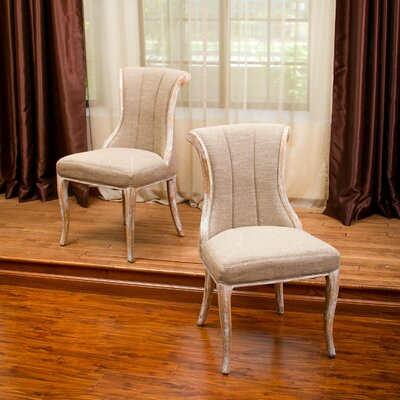 Miltonia Wood Dining Side Chair Upholstery: Light Brown