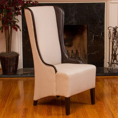 Tinsel High Back Fabric Wing back Chair