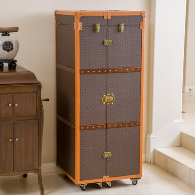Brisco Rolling Bar Cabinet with Wine Storage