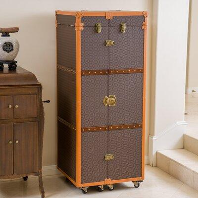 Brisco Rolling Bar Cabinet with Wine Storage