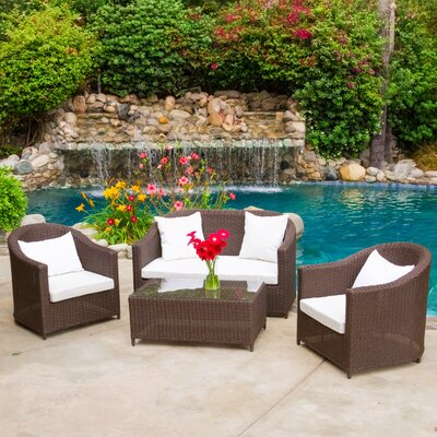 Galapogos 4 Piece Deep Seating Group with Cushions