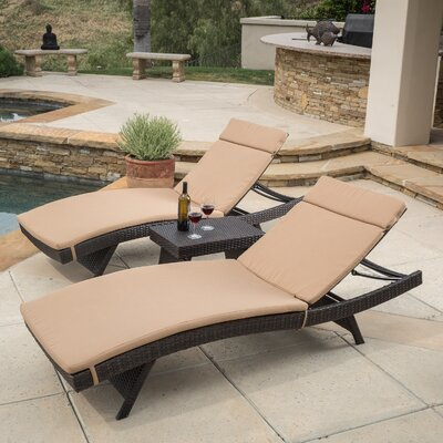 Rio Vista Chaise Lounge Set with Cushion Finish: Caramel