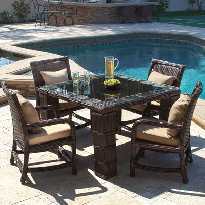 Lexie 5 Piece Dining Set with Cushions