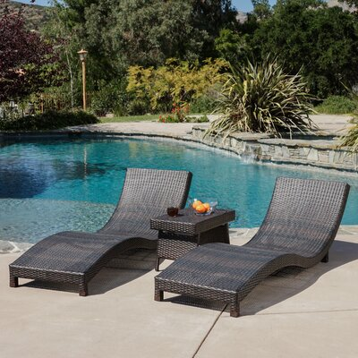 Cabrillo 3 Piece Chaise Lounge Set