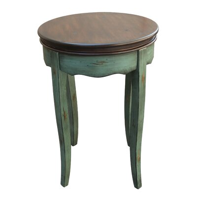 Atherton End Table Finish: Antique Blue / Brown