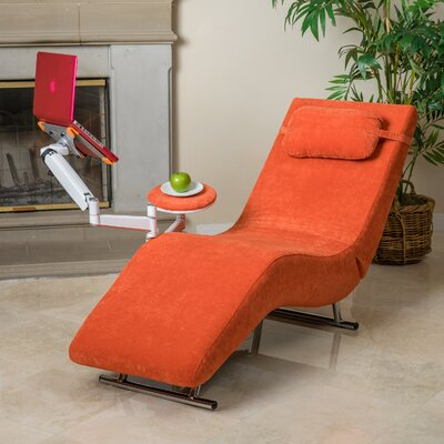 Sophisticate Chaise Lounge Upholstery: Orange