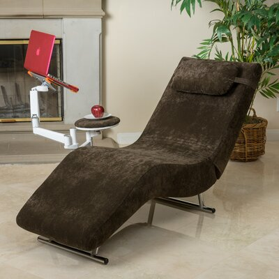 Sophisticate Chaise Lounge Upholstery: Chocolate Brown