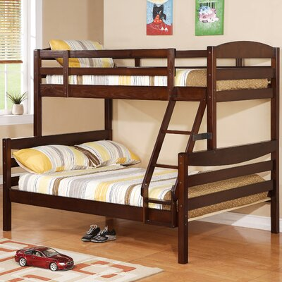 Twin over Full Bunk Bed Color: Brown