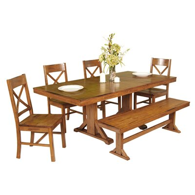 6 Piece Faulkner Dining Set Finish: Antique Brown