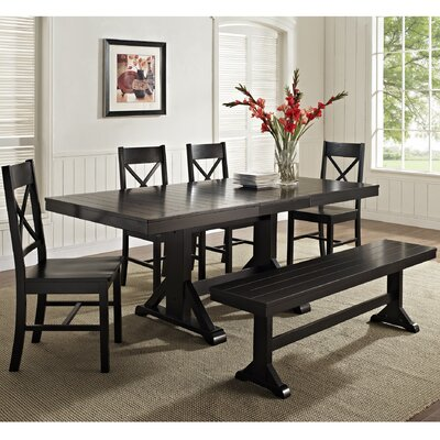 6 Piece Faulkner Dining Set Finish: Black