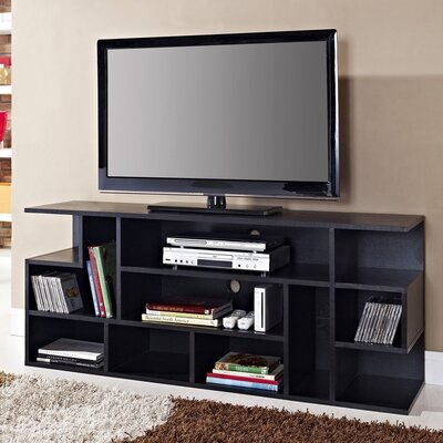 Home Loft Concept Walker Edison 60 inch Mod Style Black Wood TV Stand