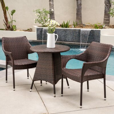 Ceylon 3 Piece Bistro Set