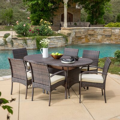 Anthony 7 Piece Dining Set Finish: Multibrown