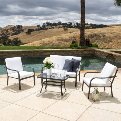 Las Palmas 4 Piece Seating Group with Cushions