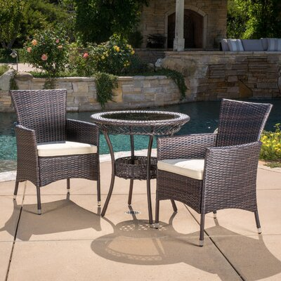 Spooner 3 Piece Dining Set with Cushions