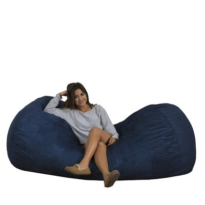 Larson Bean Bag Sofa Upholstery: Midnight Blue