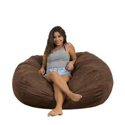 Madison Bean Bag Lounger Upholstery: Brown