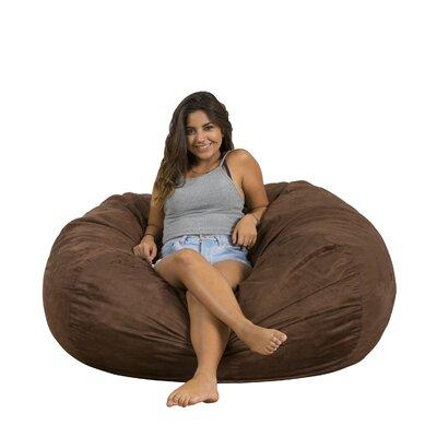 Madison Bean Bag Lounger Upholstery: Brown
