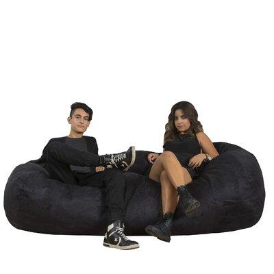 Larson Bean Bag Sofa Upholstery: Black