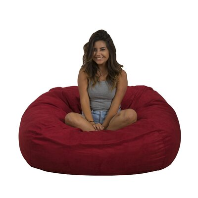 Madison Bean Bag Lounger Upholstery: Red