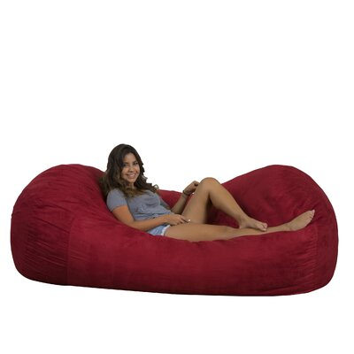 Larson Bean Bag Sofa Upholstery: Red