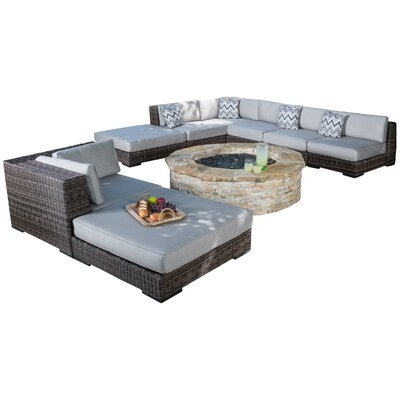 Juniper 8 Piece Seating Group with Cushions