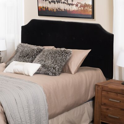Lynnwood Upholstered Panel Headboard Upholstery: Black